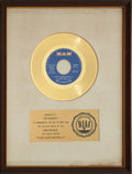 "Music Memorabilia:Awards, Gilbert O'Sullivan ""Alone Again (Naturally)"" RIAA Gold Record Award(1972)...."