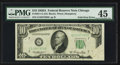 Error Notes:Foldovers, Fr. 2011-G $10 1950A Federal Reserve Note. PMG Choice ExtremelyFine 45.. ...