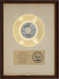 "Music Memorabilia:Awards, Carly Simon & James Taylor ""Mockingbird"" RIAA Gold Record Award(1974). ..."