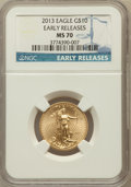 Modern Bullion Coins, 2013 $10 Quarter-Ounce Gold Eagle, Early Releases MS70 NGC. NGCCensus: (0). PCGS Population (755)....