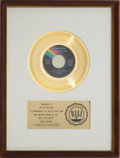 "Music Memorabilia:Awards, Olivia Newton-John ""I Honestly Love You"" RIAA Gold Record Award(1974). ..."