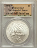 Modern Issues, 2012-P $1 Star-Spangled Banner MS69 PCGS. PCGS Population(255/260). Numismedia Wsl. Price for problem ...