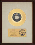 "Music Memorabilia:Awards, Al Green ""Tired Of Being Alone"" RIAA Gold Record Award (1971)...."