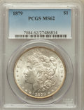 Morgan Dollars: , 1879 $1 MS62 PCGS. PCGS Population (1396/8580). NGC Census:(920/7812). Mintage: 14,807,100. Numismedia Wsl. Price for prob...