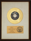 "Music Memorabilia:Awards, Al Green ""You Ought To Be With Me"" RIAA Gold Record Award (1972)...."