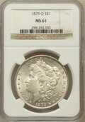 Morgan Dollars: , 1879-O $1 MS61 NGC. NGC Census: (743/4941). PCGS Population(669/7876). Mintage: 2,887,000. Numismedia Wsl. Price for probl...
