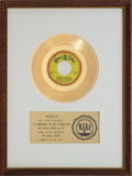 "Music Memorabilia:Awards, The Lovin' Spoonful ""Summer In The City"" RIAA Gold Record Award(1966). ..."