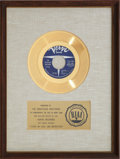 """Music Memorabilia:Awards, The Righteous Brothers """"(You're My) Soul And Inspiration"""" RIAA Gold Record Award (1966). ..."""