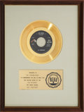 "Music Memorabilia:Awards, The Youngbloods ""Get Together"" RIAA Gold Record Award (1967). ..."