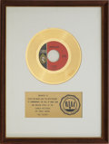 "Music Memorabilia:Awards, ? (Question Mark) & The Mysterians ""96 Tears"" RIAA Gold RecordAward (1966)...."