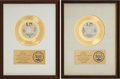 """Music Memorabilia:Awards, War """"The World Is A Ghetto"""" and """"The Cisco Kid"""" RIAA Gold RecordAwards (1972). ... (Total: 2 Items)"""