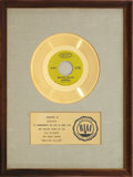 "Music Memorabilia:Awards, Donovan ""Mellow Yellow"" RIAA Gold Record Award (1966)...."