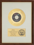 "Music Memorabilia:Awards, Steppenwolf ""Magic Carpet Ride"" RIAA Gold Record Award (1968). ..."
