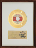 "Music Memorabilia:Awards, The Monkees ""Daydream Believer"" RIAA Gold Record Award (1967)...."