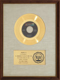 "Music Memorabilia:Awards, Steppenwolf ""Born To Be Wild"" RIAA Gold Record Award (1968)...."