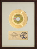 """Music Memorabilia:Awards, Carpenters """"(They Long To Be) Close To You"""" RIAA Gold Record Award(1970)...."""