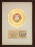 "Music Memorabilia:Awards, Paul Simon (with The Dixie Hummingbirds) ""Loves Me Like A Rock""RIAA Gold Record Award (1973). ..."