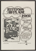 Music Memorabilia:Posters, Jefferson Airplane with Poco: Hollywood Bowl Concert Poster (1972)....