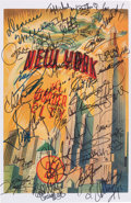 Music Memorabilia:Autographs and Signed Items, Michael Jackson's Personal 30th Anniversary Special Poster, Signedby Him, Whitney Houston, and Numerous Others (2001). ...