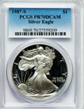 Modern Bullion Coins: , 1987-S $1 Silver Eagle PR70 Deep Cameo PCGS. PCGS Population (551).NGC Census: (429). Mintage: 904,732. Numismedia Wsl. Pr...