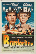 "Movie Posters:Crime, Borderline (Universal International, 1950). One Sheet (27"" X 41"").Crime.. ..."
