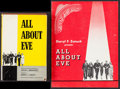 "Movie Posters:Academy Award Winners, All About Eve (Random House, 1951). Hard Cover Book (245 Pages,5.5"" X 8.25"") & Program (16 Pages, 8.5"" X 11""). Academy Awar...(Total: 2 Items)"
