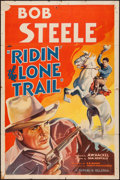 "Movie Posters:Western, Ridin' the Lone Trail (Republic, 1937). One Sheet (27"" X 41""). Western.. ..."