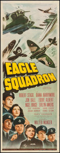 "Movie Posters:War, Eagle Squadron (Universal, 1942). Insert (14"" X 36""). War.. ..."