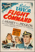 "Movie Posters:War, Flight Command (MGM, 1940). One Sheet (27"" X 41""). Style D. War....."