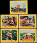 """Movie Posters:Adventure, Around the World in 80 Days (Michael Todd Co., R-1958). Lobby Cards(5) (11"""" X 14""""). Adventure.. ... (Total: 5 Items)"""