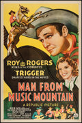 """Movie Posters:Western, Man from Music Mountain (Republic, 1943). One Sheet (27"""" X 41""""). Western.. ..."""
