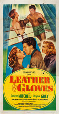 "Movie Posters:Sports, Leather Gloves (Columbia, 1948). Three Sheet (41"" X 80""). Sports.. ..."