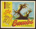 "Movie Posters:Animation, Bambi (RKO, R-1948). Lobby Card (11"" X 14""). Animation.. ..."