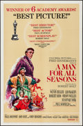 "Movie Posters:Academy Award Winners, A Man For All Seasons (Columbia, 1967). One Sheet (27"" X 41"")Academy Award Style. Drama... ..."
