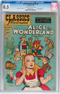 Golden Age (1938-1955):Classics Illustrated, Classics Illustrated #49 Alice in Wonderland Original Edition(Gilberton, 1948) CGC VF+ 8.5 Off-white to white pages....