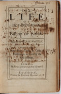 Books:Biography & Memoir, Izack Walton. The Life of Dr. Anderson Late Bishop ofLincoln. Richard Marriott, 1678. First edition. Engraved p...