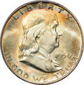 Franklin Half Dollars: , 1950-D 50C MS65 Full Bell Lines PCGS. PCGS Population (618/51). NGCCensus: (173/7). Numismedia Wsl. Price for problem fre...