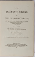 Books:Literature Pre-1900, Mark Twain. The Innocents Abroad, or the New Pilgrim'sProgress. American Publishing Company, 1873. Early printi...