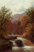 Fine Art - Painting, European:Other , WILLIAM MELLOR (British, 1851-1931). On the Llugwy, NorthWales. Oil on canvas. 30 x 20 inches (76.2 x 50.8 cm). Signed...