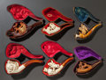 Decorative Arts, Continental, SIX FIGURAL MEERSCHAUM PIPES WITH ORIGINAL CASES. Late 19thcentury. 6-1/4 inches long (15.9 cm) (lion). ... (Total: 6 Items)