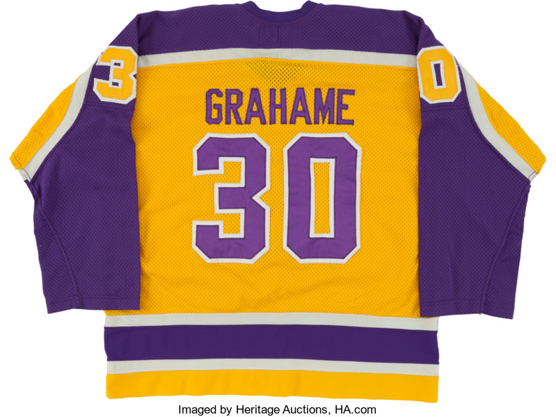 hot sale online b5df3 6a1bc 1980-81 Ron Grahame Game Worn Los Angeles Kings Jersey ...