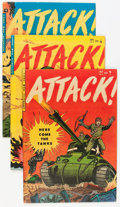 Golden Age (1938-1955):War, Attack Group (Youthful Magazines, 1952) Condition: AverageFN/VF.... (Total: 6 Comic Books)