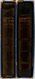 Books:World History, [Morrison Typography] LIMITED/PRESENTATION COPY. The History of the Times: 'The Thunderer' in the Making 1785-1841... (Total: 2 Items)