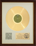 Music Memorabilia:Awards, The Association's Greatest Hits! RIAA Gold RecordAward (1968). ...