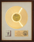 Music Memorabilia:Awards, Neil Young With Crazy Horse Everybody Knows This Is Nowhere RIAA Gold Record Award (1969)....