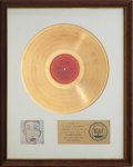 Music Memorabilia:Awards, Bob Dylan Self Portrait RIAA Gold Record Award (1970)....