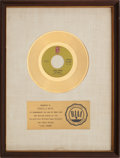 "Music Memorabilia:Awards, O'Jays ""Love Train"" RIAA Gold Record Award (1972)...."