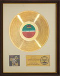 Music Memorabilia:Awards, The Rascals Time Peace The Rascals' Greatest Hits RIAA GoldRecord Award (1968). ...