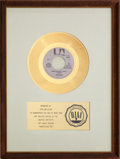 "Music Memorabilia:Awards, Don McLean ""American Pie"" RIAA Gold Record Award (1971). ..."