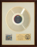 Music Memorabilia:Awards, Beach Boys All Summer Long RIAA Gold Record Award (1964)....